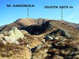 Via Normale Monte Garzirola - Cresta WSW - All'inizio dell'ampia cresta WSW