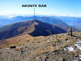 Via Normale Monte Garzirola - Cresta WSW - Panorama verso il Monte Bar, dalla vetta