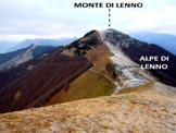 Via Normale Monte di Lenno - Al centro la brina delimita la cresta NNE