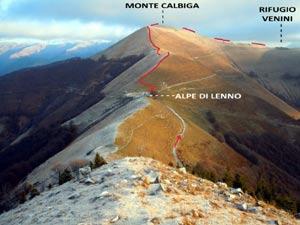 Via Normale Monte Calbiga