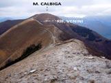 Via Normale Monte di Tremezzo - Il M. Calbiga dalla cresta WNW del M. di Tremezzo