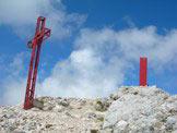 Via Normale Monte Amaro - via normale da Est - La Croce e il punto trigonometrico del Monte Amaro
