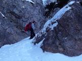 Via Normale Monte Zevola - Vajo dell´Acqua - La strozzatura.