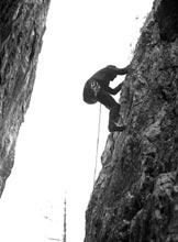 Via Normale Poncione di Ganna - Cresta NNW - In arrampicata su ´La Foglia´