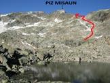 Via Normale Piz Misaun - L'itinerario dal laghetto di (q. 2759 m)