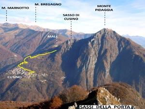 Via Normale Monte Pidaggia