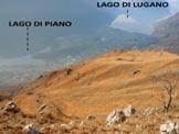 Via Normale Monte Pidaggia - I ripidi pendii erbosi del versante S