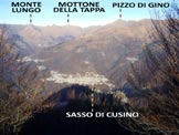 Via Normale Monte Pidaggia - Panorama di vetta sulla Val Cavargna