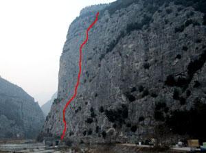 Via Normale Parete del Limarò - Via Orizzonti Dolomitici