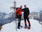 Via Normale Monte Sasna (invernale) - Con il mio compagno in vetta