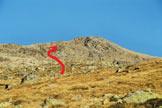 Via Normale Piz Chalchagn - Il Piz Chalchagn dal Pasculs da Boval