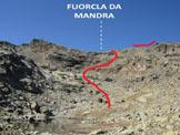 Via Normale Piz Chalchagn - cresta SSW - La Fuorcla da Mandra, dai pressi della Puoz Ot