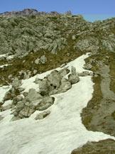 Via Normale Monte Alben da NE - Il canalone finale