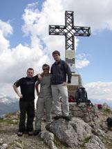 Via Normale Monte Alben da NE - Sulla cima