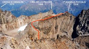 Via Normale Angelo Piccolo - cresta W
