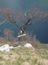 Via Normale Colmegnone-Poncione di Laglio - La piccola croce che si incontra salendo