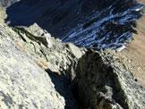 Via Normale Piz Griatschouls - cresta E - L�intaglio appena superato