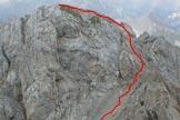 Via Normale Cima di Laste - Dal forcellino alla cresta
