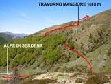 Via Normale Cima Calescio - L'itinerario alla partenza (valido anche per Camoghè – cresta w)