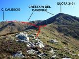 Via Normale Cima Calescio - In salita