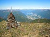 Via Normale Cima Calescio - Il Fiume Ticino che si immette nel Lago Maggiore, dalla vetta