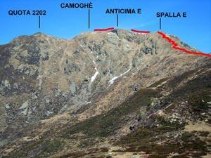 Via Normale Camoghè - Cresta SE-E