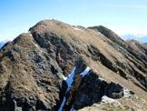 Via Normale Camoghè - Cresta W - La vetta dalla q. 2202 m