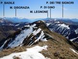 Via Normale Camoghè - Cresta W - Panorama di vetta verso est