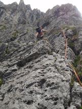 Via Normale Monte Alben/Punta della Croce-Via Clipper - Il primo tiro.