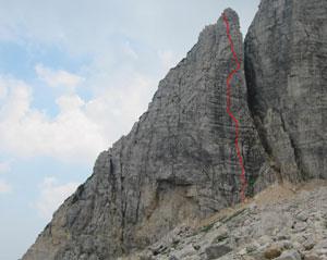 Via Normale Soglio Sandri e Menti - Via Antonella