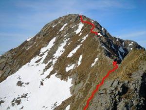 Via Normale Monte Rotondo - Cresta NE