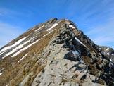 Via Normale Monte Rotondo - Cresta NE - All'inizio della facile cresta NE