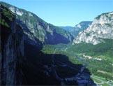 Via Normale Gusela Val Goccia - Dalla cima verso la Valsugana