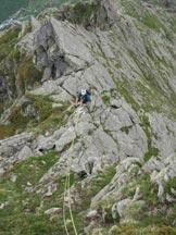 Via Normale Pizzo Stange - Lungo la Cresta W