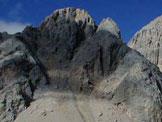 Via Normale Sasso di Tasca - La cima vista salendo al P.so Cirelle