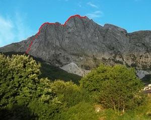Via Normale Roccandagia - cresta est-sudest