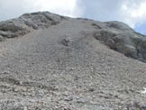 Via Normale Cima del Bachet - Il ghiaione di salita