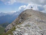 Via Normale Cima del Bachet - Sulla piatta cima