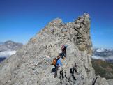 Via Normale Piz Uertsch - Lungo la cresta sommitale