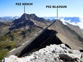 Via Normale Piz Uertsch - Panorama di vetta, verso NE