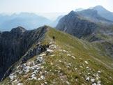 Via Normale Monte Vigna Vaga - Scendendo la cresta verso Fontanamora