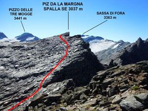 Via Normale Piz da la Margna - Spalla SE