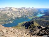 Via Normale Piz da la Margna - I laghi dell'Alta Engadina, dalla vetta
