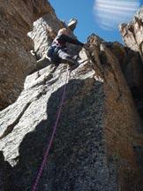 Via Normale Punta Fourà - Cresta SE - Tratto di arrampicata