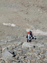 Via Normale Mare Percia - Salendo al colle con l� anticima SW