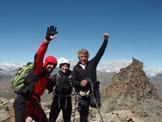 Via Normale Mare Percia - In vetta, con Anna e Virginio