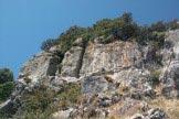 Via Normale Monte Perda Liana - Parete est: il camino di salita è il primo a sinistra