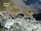 Via Normale Monte delle Forbici - In discesa