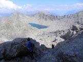 Via Normale Monte Colmet - La parte inferiore del pendio detritico in discesa