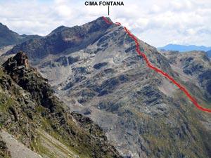 Via Normale Cima Fontana - Cresta SW
